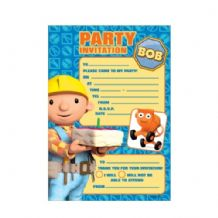 'Bob The Builder' Party Invitations PK20